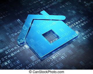Business concept: Blue Home on digital background