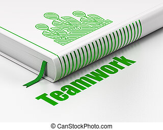 Business concept: book Business Team, Teamwork on white background