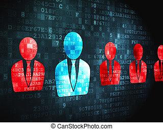 Business concept: Business Man on digital background