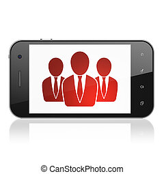 Business concept: Business People on smartphone - Business...