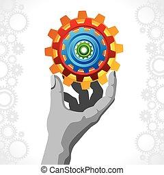 Business concept. businessman hand