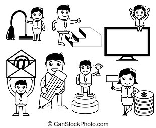 Business Concept Cartoons Vector