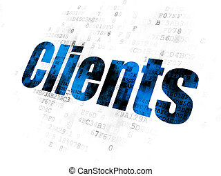 Business concept: Clients on Digital background