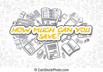 business, concept., -, comment, beaucoup, boîte, vous, sauver