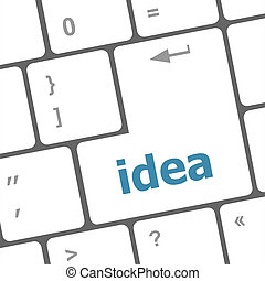 Business concept: computer keyboard with word idea on enter button