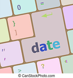 business concept: computer keyboard with word Date