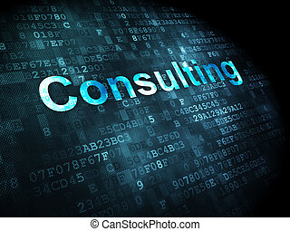 Business concept: Consulting on digital background