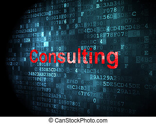 Business concept: Consulting on digital background -...