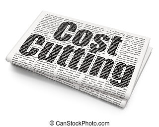 Business concept: Cost Cutting on Newspaper background