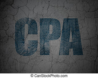 Business concept: CPA on grunge wall background