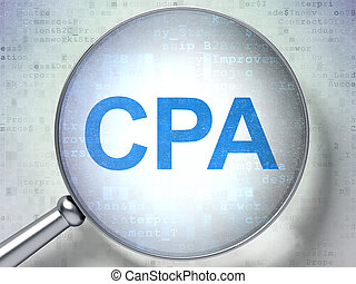 Business concept: CPA with optical glass - Business concept:...