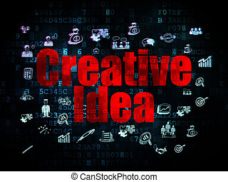 Business concept: Creative Idea on Digital background