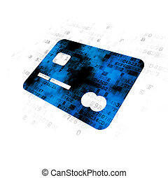 Business concept: Credit Card on Digital background