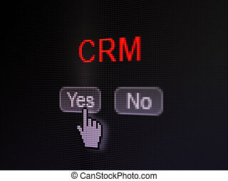 Business concept: CRM on digital computer screen