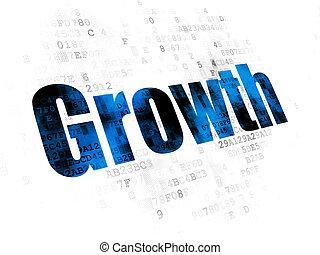 business, concept:, croissance, sur, arrière-plan numérique