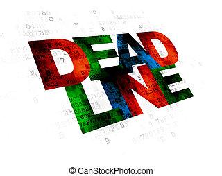 Business concept: Deadline on Digital background