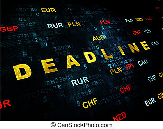 Business concept: Deadline on Digital background