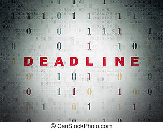 Business concept: Deadline on Digital Data Paper background