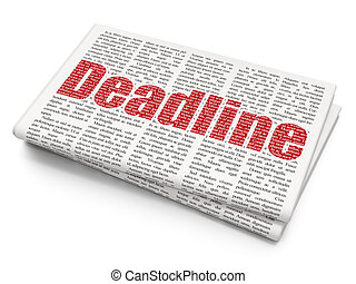 Business concept: Deadline on Newspaper background