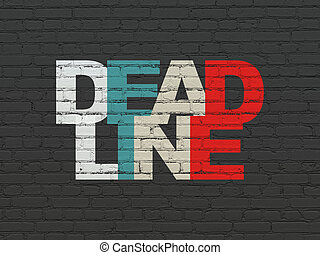 Business concept: Deadline on wall background