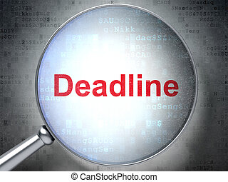 Business concept: Deadline with optical glass