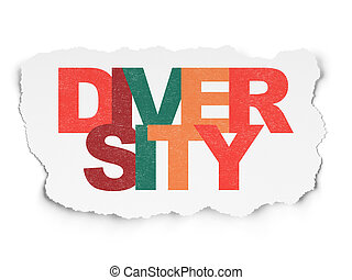 Business concept: Diversity on Torn Paper background