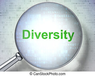 Business concept: Diversity with optical glass