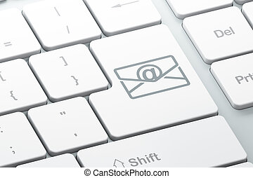 Business concept: Email on computer keyboard background