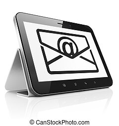 Business concept: Email on tablet pc computer