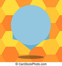 Business concept Empty template copy space isolated Posters coupons promotional material Blank Color Circle Floating Vector with Shadow and Design at the Edge