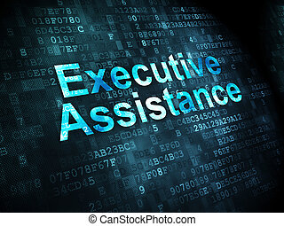 Business concept: Executive Assistance on digital background