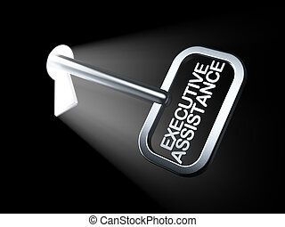 Business concept: Executive Assistance on key