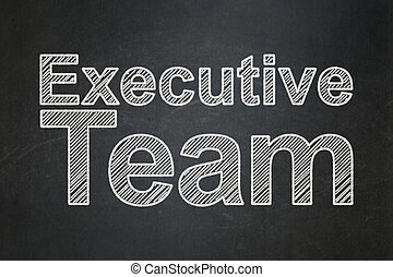 Business concept: Executive Team on chalkboard background