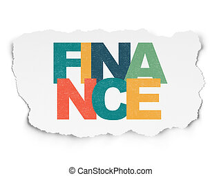 Business concept: Finance on Torn Paper background