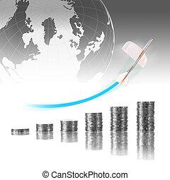 business, concept financier