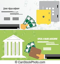 Business concept for online internet banking