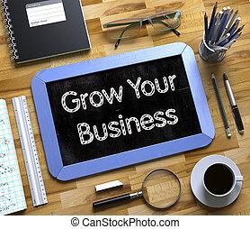 business, concept., grandir, tableau, petit, ton, 3d