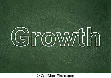 Business concept: Growth on chalkboard background