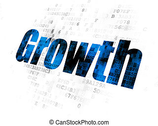 Business concept: Growth on Digital background
