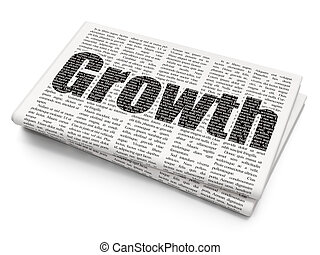 Business concept: Growth on Newspaper background