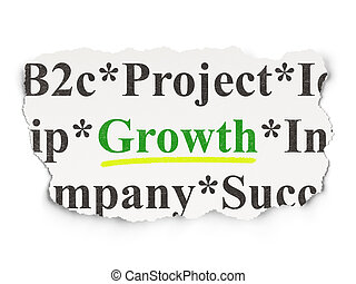 Business concept: Growth on Paper background