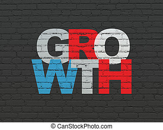 Business concept: Growth on wall background