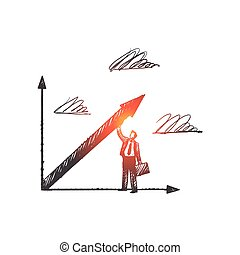 Business concept. Hand drawn isolated vector