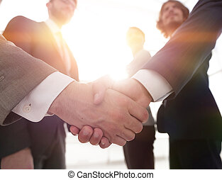 business concept handshake business people