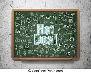 Business concept: Hot Deal on School board background