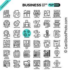 Business concept icon illustration set