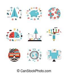 business concept idea set