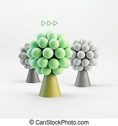 Business concept illustration. Leadership 3D  illustration.