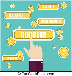 Business concept illustration. Success key word.