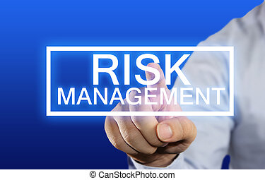 Risk Management - Business concept image of a businessman ...